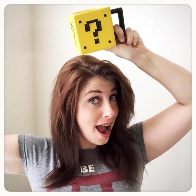 ThinkGeek's Power Up Mug Customer Action Shot