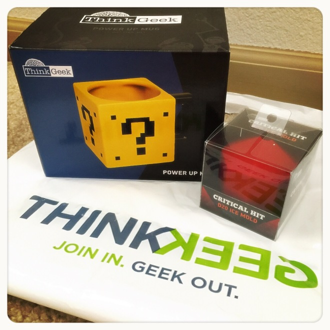 ThinkGeek Power Up Mug & Critical Hit D20 Ice Mold